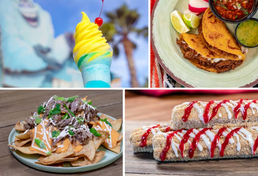 Collage of dining options from Disney California Adventure park