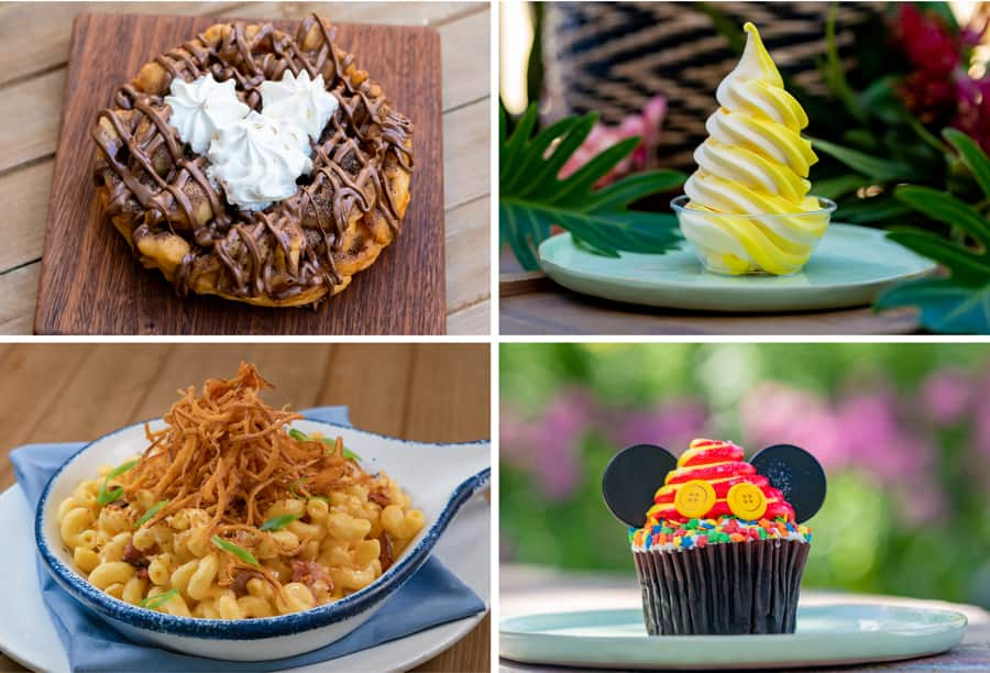 Collage of sweets offered at Disneyland Resort