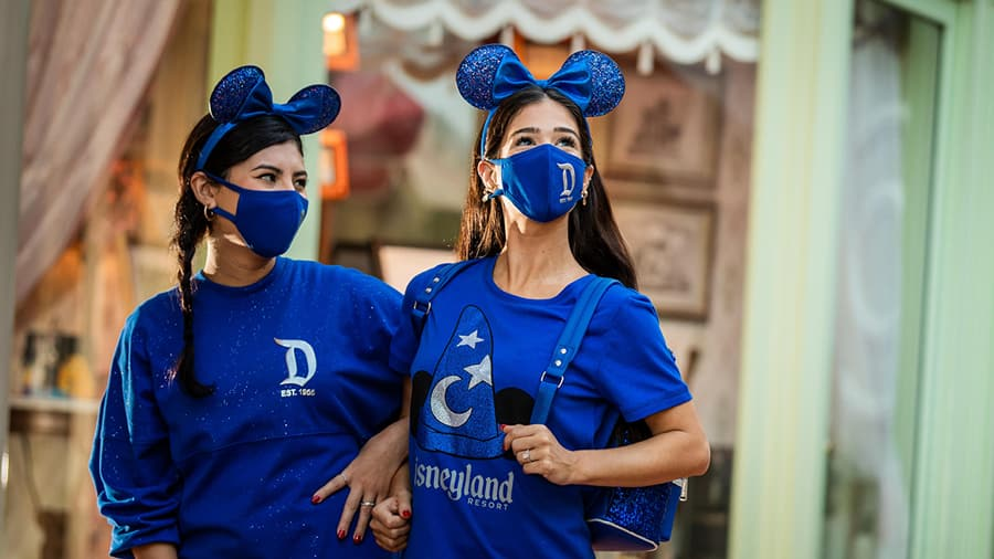 Guests in Disneyland Resort merchandise