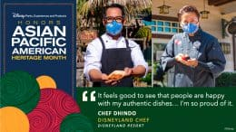 """Disney Parks, Experiences and Products Honors Asian Pacific American Heritage Month - """"It feels good to see that people are happy with my authentic dishes...I'm so proud of it."""" Chef Dhindo - Disneyland Chef, Disneyland Resort"""
