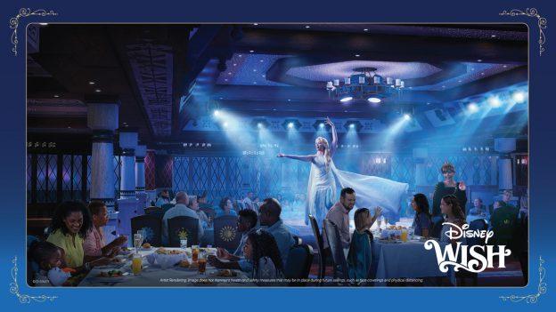 Artist Rendering: Arendelle: A Frozen Dining Adventure on the Disney Wish