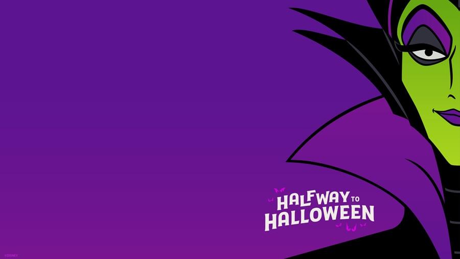 #HalfwaytoHalloween Wallpaper featuring Maleficent