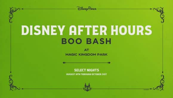 Disney After Hours BOO BASH graphic