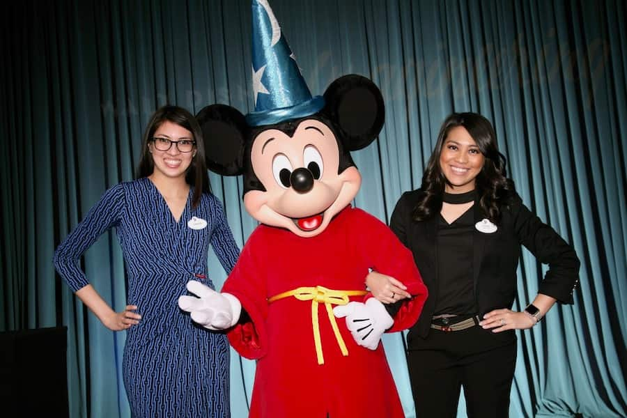 Program Specialist Sariya Singsanong Park and Project Manager Sirine Singsanong Bunkua with Mickey Mouse