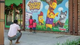"""New Disney Junior """"The Chicken Squad"""" Photo Wall at Disney Springs"""