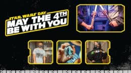 May the 4th Be with You merchandise graphic