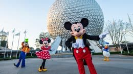 Mickey Mouse, Minnie Mouse, Goofy and Donald at EPCOT