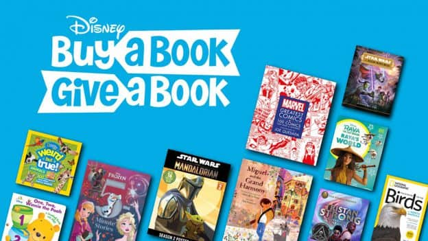 Buy a Book, Give a Book: Disney to Donate a Book for Every Book Purchased Through the End of the Year