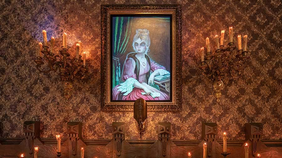 """April to December"" portrait, Haunted Mansion, Disneyland Resort"