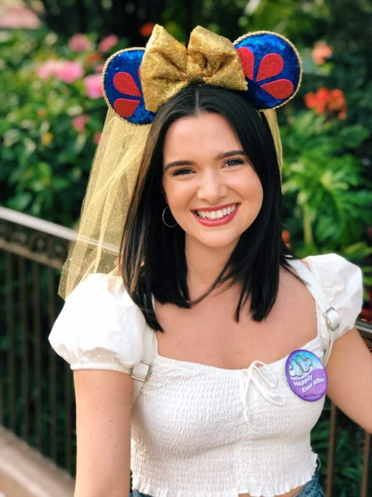 Actress Katie Stevens from 'The Bold Type' at Walt Disney World Resort