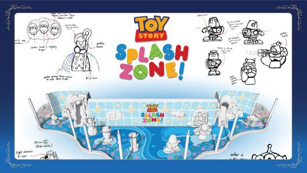 Disney Wish: Toy Story Splash Zone Artist Concept