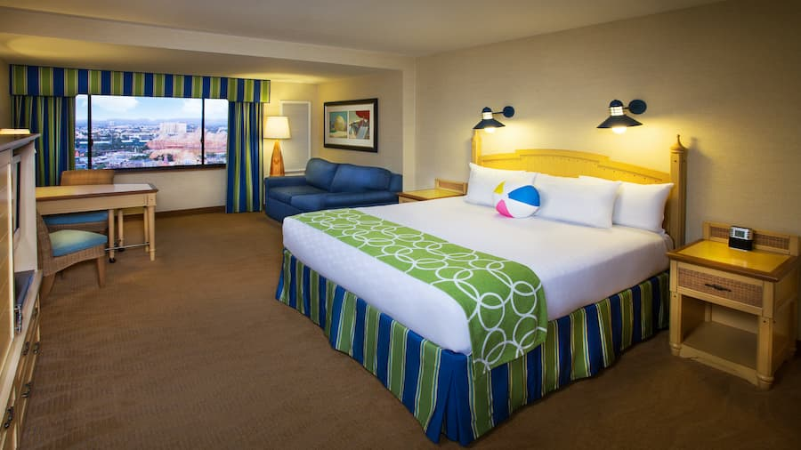 Guest room at Disney's Paradise Pier Hotel