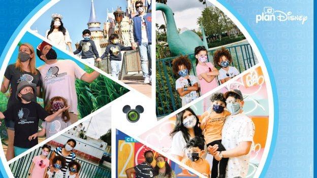 Collage of Disney PhotoPass Service photos of planDisney Panelists
