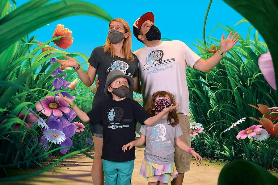 Family at Disney Photopass Studio at Disney Springs