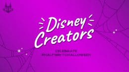 Disney Creators celebrate Halfway to Halloween graphic
