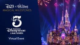 Shanghai Disney Resort, D23 and Walt Disney Imagineering graphic celebrating the 5th anniversary
