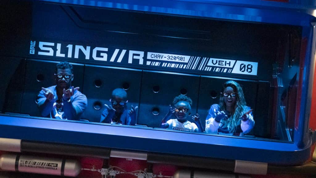 Seattle Seahawks quarterback Russell Wilson, wife Ciara and kids on WEB Slingers: A Spider-Man Adventure