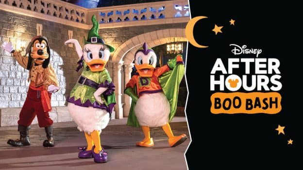 Disney After Hours Boo Bash graphic with characters