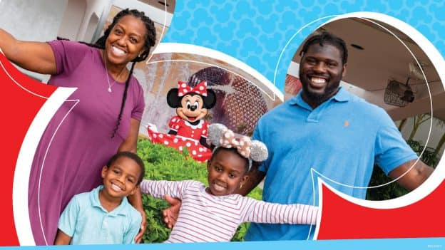 Graphic with family meeting Minnie Mouse