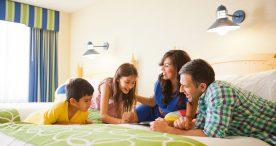Family at Disney's Paradise Pier Hotel