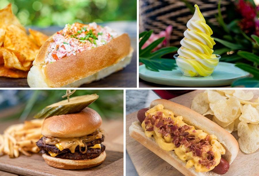 Lobster Roll, Pineapple Lemon Whip, Double Cheeseburger, Mac & Cheese Dog