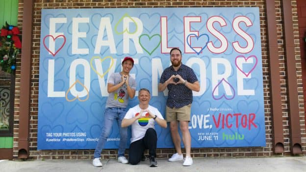 'Love, Victor' photo opportunity at Disney Springs