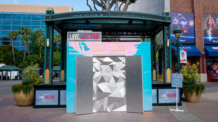'Love, Victor' photo opportunity at Downtown Disney at the Disneyland Resort