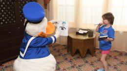 Make-A-Wish Kid Sasha and Donald Duck
