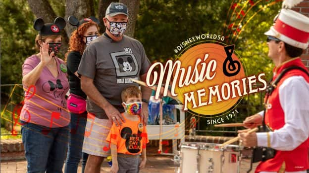 #DisneyWorld50 Music and Memories Since 1971 - 1971 Opening Day Parade Performer Returns to Walt Disney World With His Grandson