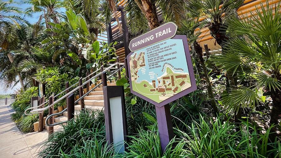 Running trail map at