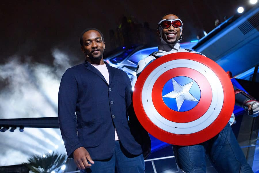 Anthony Mackie Joins Captain America During Grand Opening of Avengers Campus