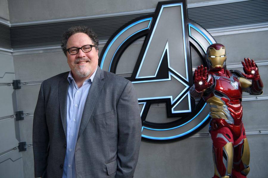 Director and Actor Jon Favreau Tours Avengers Campus at Disney California Adventure Park