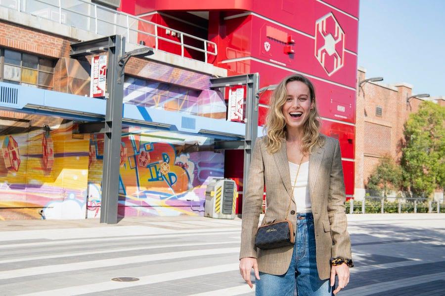 Brie Larson Gets Sneak Peek at Avengers Campus at Disney California Adventure Park