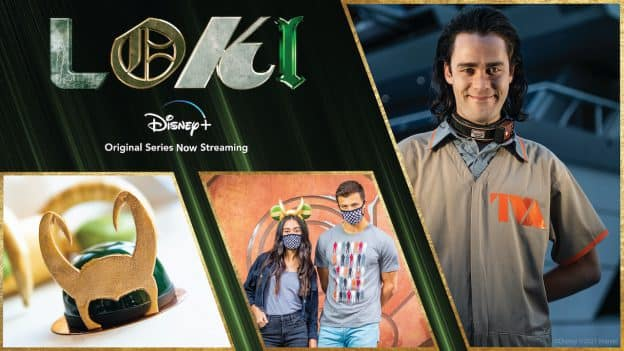 Graphic of Loki with new products available on shopDisney