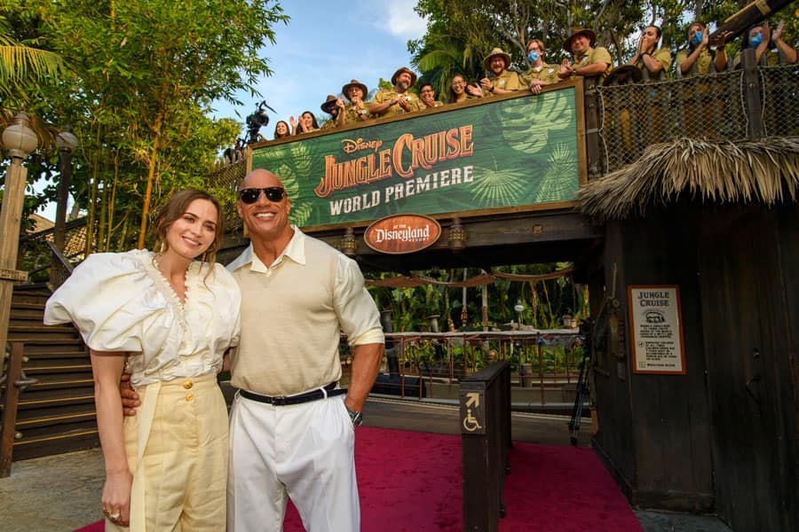 """Emily Blunt and Dwayne Johnson at Disney's """"Jungle Cruise"""" World Premiere"""