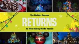 Holiday happenings coming to Walt Disney World Resort graphic and collage