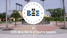 Graphic for 2021 Scripps National Spelling Bee at ESPN Wide World of Sports
