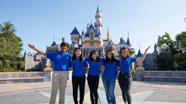 Anaheim High School Students at Disneyland park