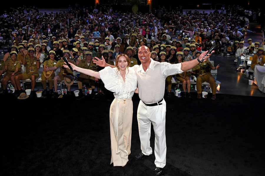 Emily Blunt and Dwayne Johnson at World Premiere of 'Jungle Cruise'