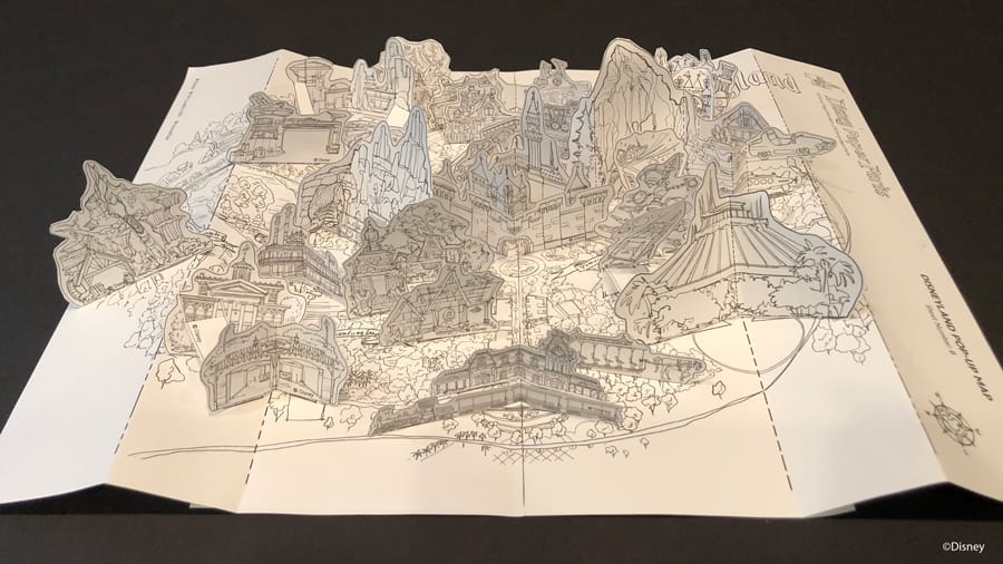 Disney Paper Parks Disneyland Pop-Up Map