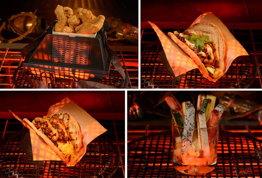 Ronto Roasters - Zuchii Wrap, Triple Suns Breakfast Wrap, Andoan Fruit with Muja Sauce and Kyryll Pork Rinds Walt Disney World Food News Hollywood Studios July 2021