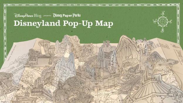 Disney Parks Blog Presents Disney Paper Parks - Disneyland Pop-Up Map