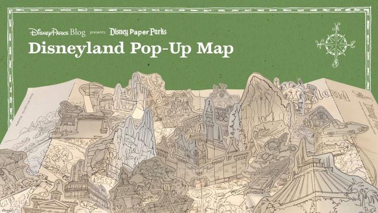 Disney Paper Parks:  Crie um mapa pop-up da Disneyland