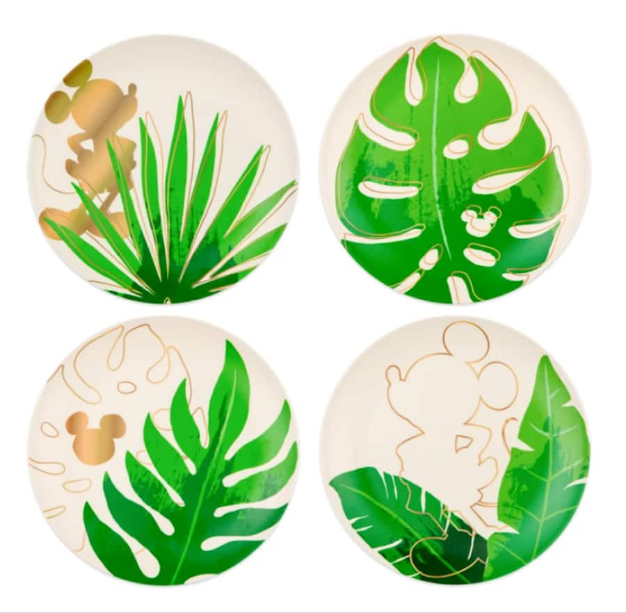 Mickey Mouse Tropical Plate Set