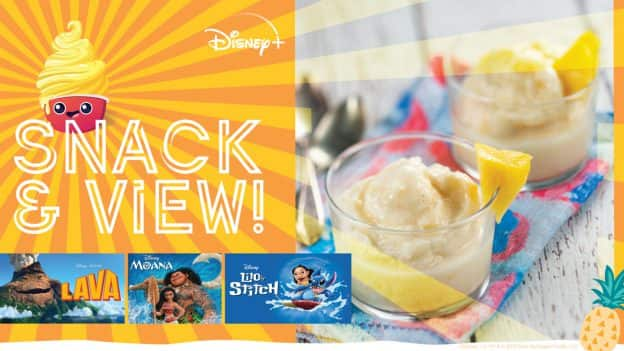 Snack & View: Enjoy a Frozen Pineapple Treat Inspired by DOLE Whip While Watching Tropical Island Favorites On Disney+