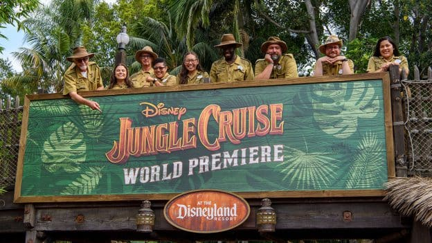 Disneyland Jungle Cruise Skippers at Disney's World Premiere of 'Jungle Cruise'