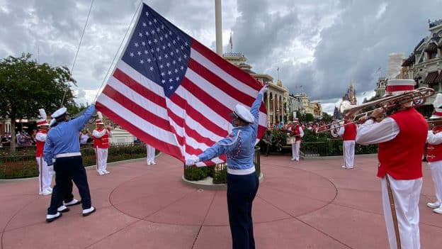 The return of the Flag Retreat Ceremony in Magic Kingdom on July 1
