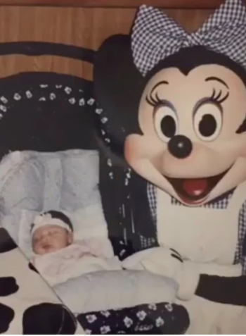 Baby Kaylin and Minnie Mouse