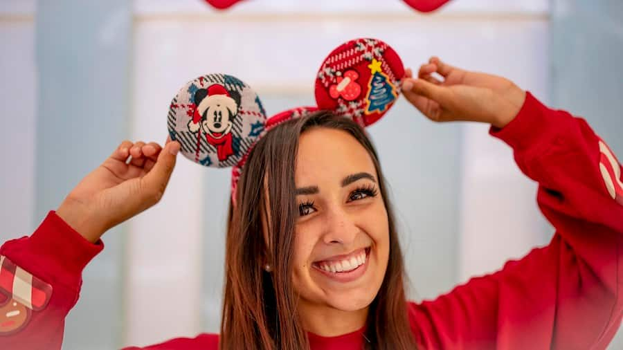 Holiday Mickey Mouse Ear headband