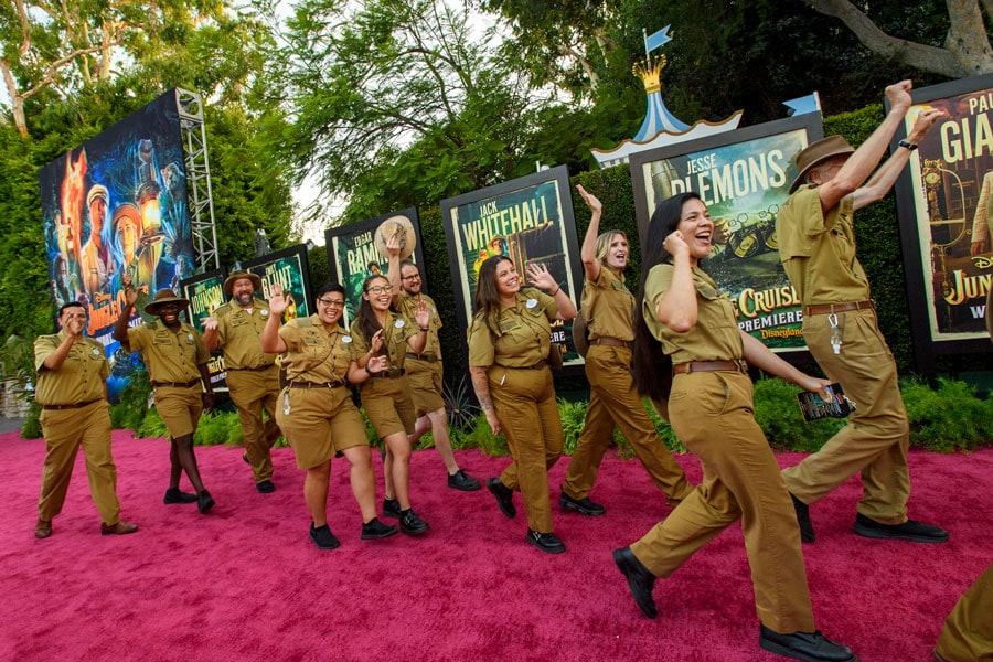 Disneyland Jungle Cruise Skippers walking down red carpet